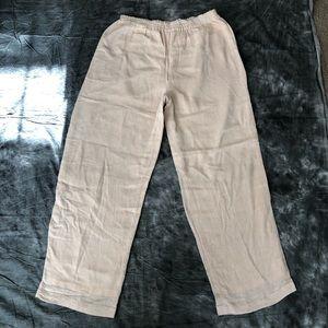 Yasuko Kurisaka tan speckled pants pockets
